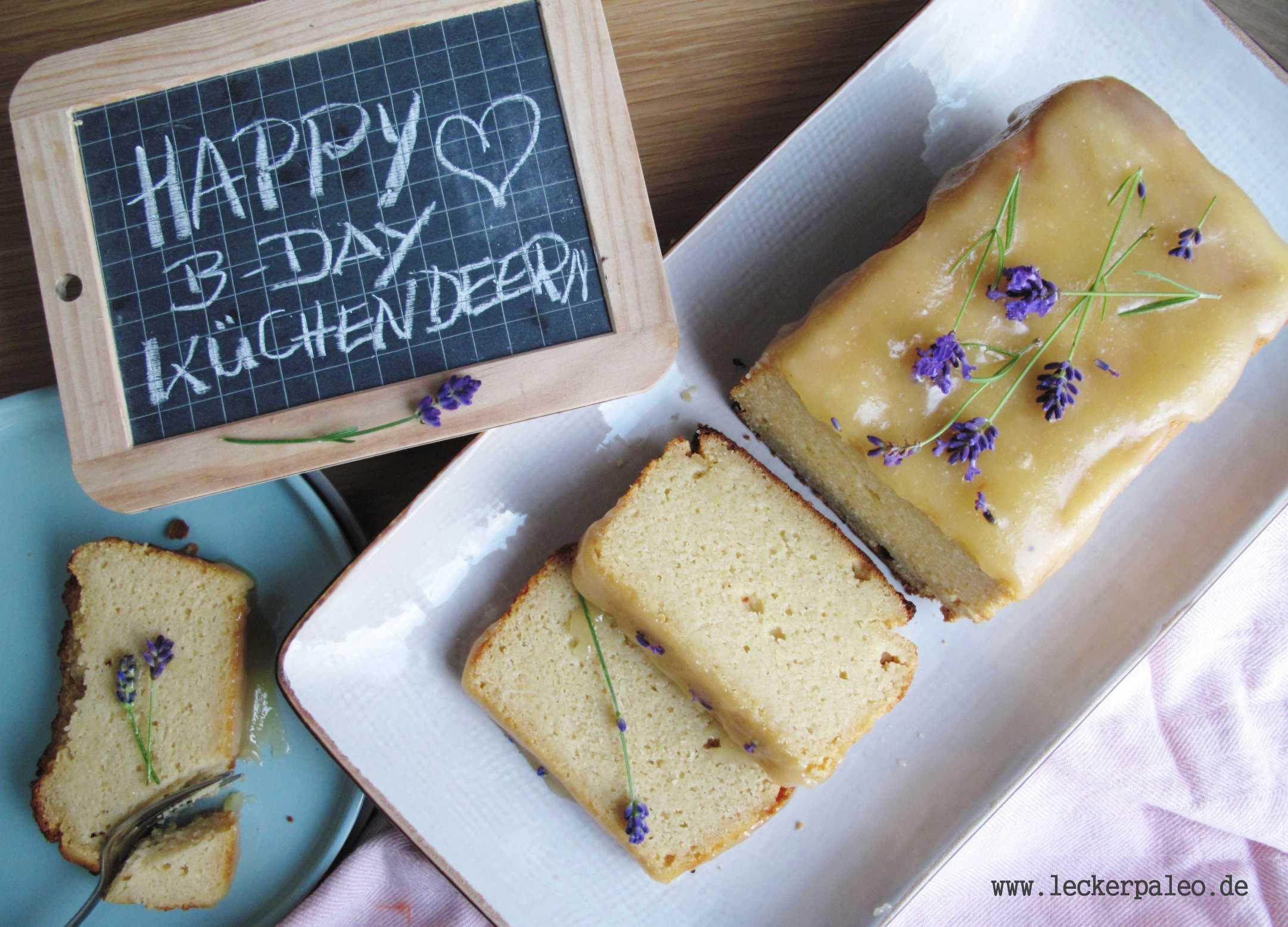 Sommerlicher Zitronenkuchen mit Lavendel